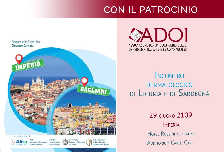 29 giugno 2019: Incontro dermatologico di Liguria e Sardegna